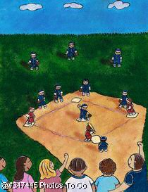 Illustration: Little league baseball